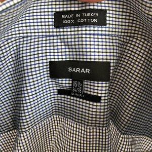 3/$25 SARAR Oxford Plaid Slim Fit Button Up Shirt